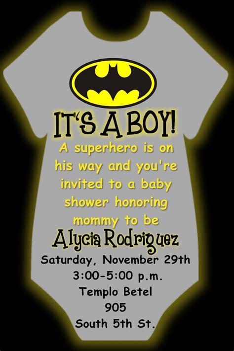 Baby Shower Invi by Batman Baby Shower Invite Invi And Tips For