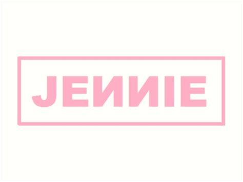 blackpink logo quot blackpink jennie logo quot art prints by fijota redbubble