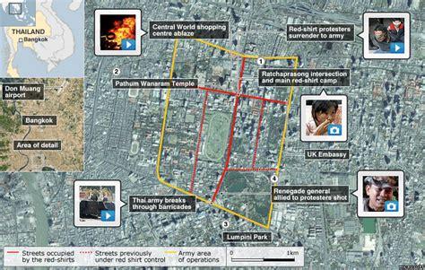 map us embassy bangkok news bangkok clashes map