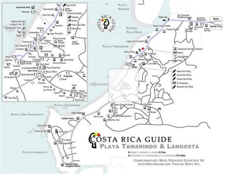 printable local area maps 1000 images about destination tamarindo on pinterest