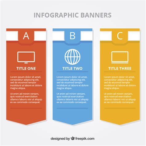 minimalist design banner flat banners for infographics with minimalist icons vector