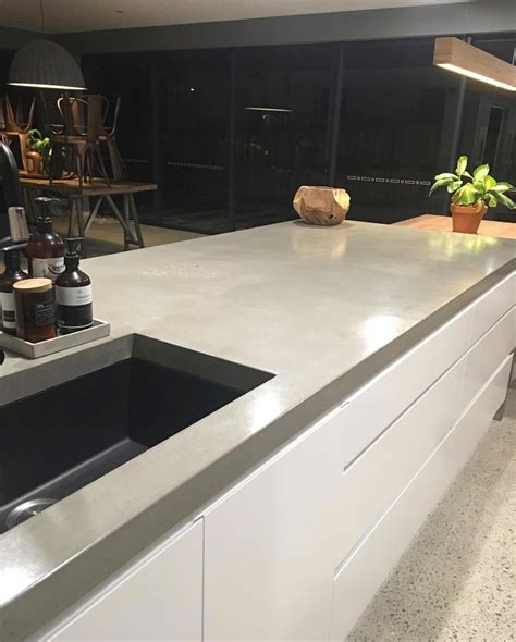 concrete bench tops azure interior s stunning home with concrete benchtop