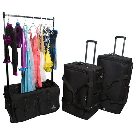 Suitcase With Garment Rack by Sjdancewear