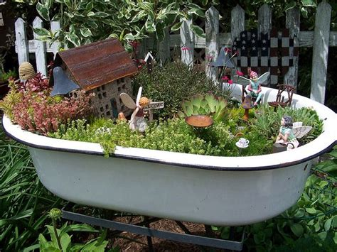 bathtub gardens 17 best images about fairy houses fairy gardens on pinterest gardens fairy garden