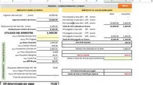excel para el clculo de impuestos 2016 anual personas fisicas calculadora de isr e iva personas fisicas youtube