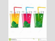 Glasses of juice stock vector. Image of citrus, foliage ... Green Juice Clipart