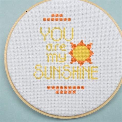 Cross Stitch Pattern You Are My Sunshine | you are my sunshine cross stitch pattern instant download
