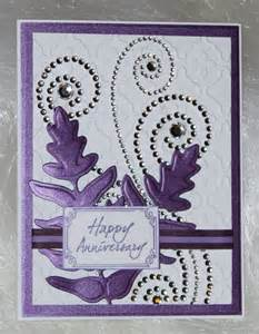 anniversary card with rhinestone swirls create n craft