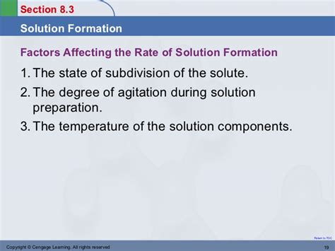 section 8 1 formation of solutions answers chapter8