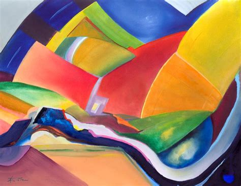 For Sale Abstract Landscape Paintings Abstract Landscape Paintings In Bold Vibrant Colour For