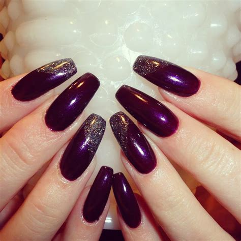 plum nail color acrylic nail designs plum we how to do it
