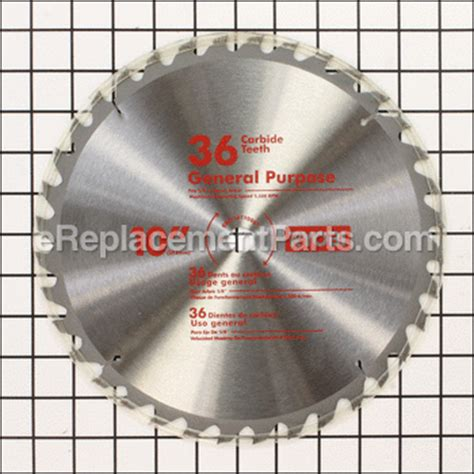 ryobi table saw blade size 10 quot 5 8 quot arbor 36 tooth table saw blade 089110110001 for