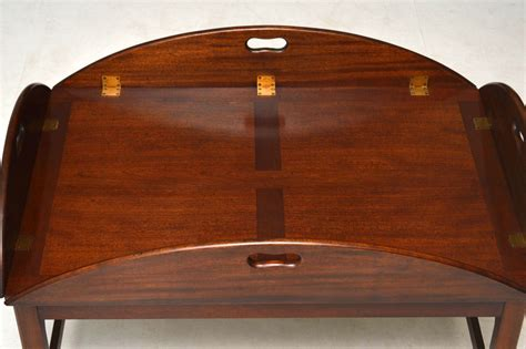 tray top coffee table furniture antique mahogany tray top butlers coffee table