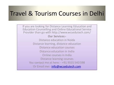 Distance Mba In Tourism Management In India by Travel And Tourism Degree Distance Learning