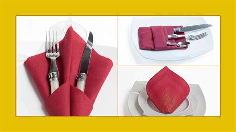 bestecktaschen falten servietten falten bestecktasche servietten hochzeit