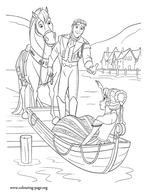 frozen horse coloring pages free coloring pages of hans from frozen