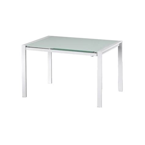 tavolo vetro temperato allungabile tavolo allungabile con piano in vetro temperato bianco