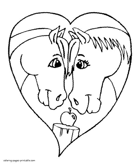 horse valentine coloring page simple horse coloring page for kids horse valentine