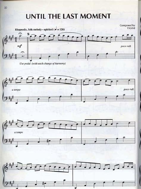 Tutorial Piano Yanni Until The Last Moment   yanni until the last moment