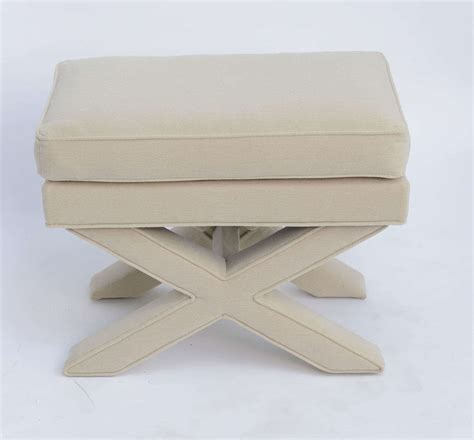 upholstered x bench billy baldwin style upholstered x bench for sale at 1stdibs