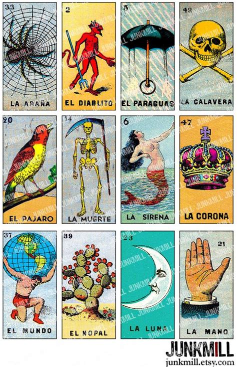 how to make loteria cards loteria digital printable collage sheet vintage