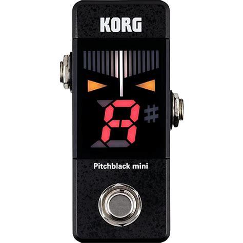Korg Tuner Pitchblack Pro Pb 01 Black korg korg pitchblack mini pedal tuner guitar center