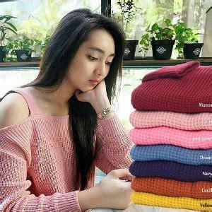 Sweater Rajut Wanita Baju Rajut Korea Rajut Murah Grosir Rajut 24 jual sabrina sweater premium sweater rajut baju rajut