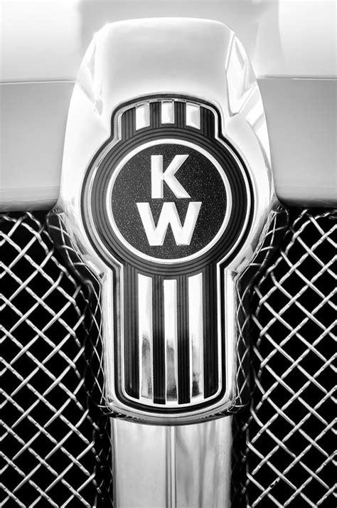 kenworth emblem kenworth truck emblem 1196bw photograph by reger