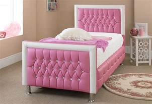 bett frau pink leather bed 3ft new exclusive design for any