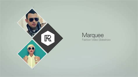 marquee fashion video slideshow after effects template