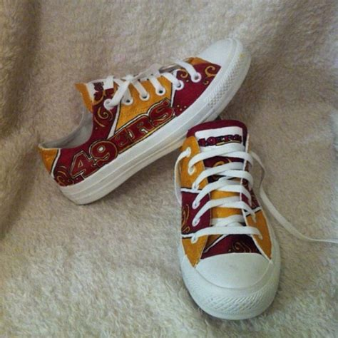 49ers shoes custom painted san francisco 49ers shoes 8 5 from sydney s