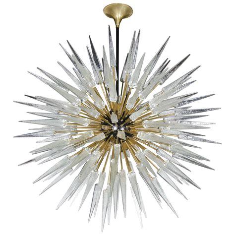 Starburst Chandelier Impressive And Monumental Murano Glass Spiked Starburst Chandelier At 1stdibs