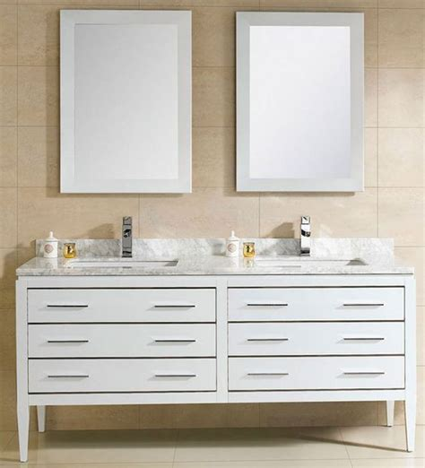 All Wood Bathroom Vanity At Adoos 60 Inch Modern Sink Bathroom Vanity White Finish Ceramic Top Http Www