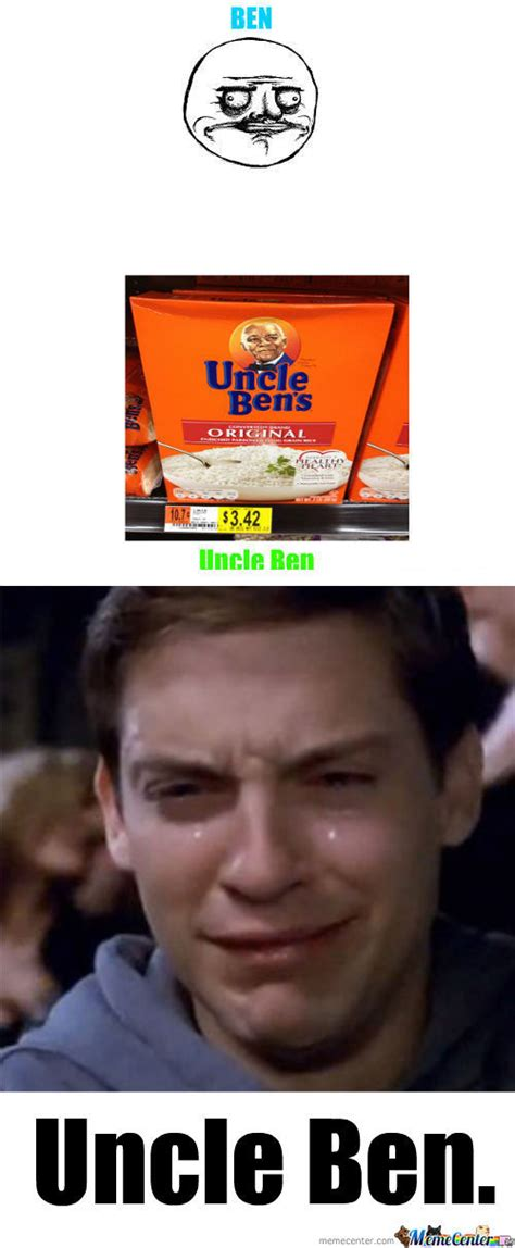 Ben Meme - spiderman meme uncle ben
