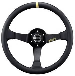 Steering Wheels Pictures Sparco Racing 325 Leather Black Steering Wheel