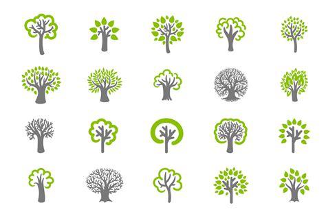 Tree Icon Set Icons Creative Market Tree Logo Setpeople Logo Setfamily