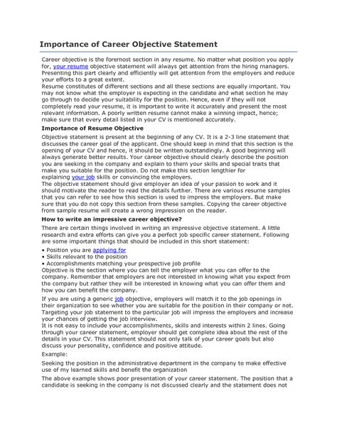 assistant resume objective statement 28 images sle objective for resume 10 exles in word pdf