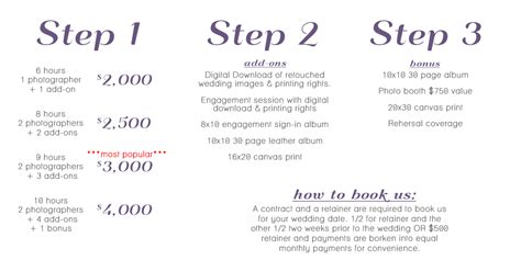 Wedding Photo Packages by Nashville Wedding Photography Pricing Packages