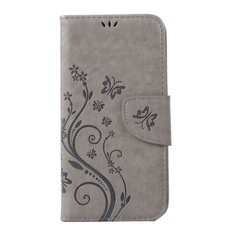 Leathercase Flip Lenovo A319 1 butterfly flower leather phone for lenovo a319 hoesje soft back cover flip stand lanyard