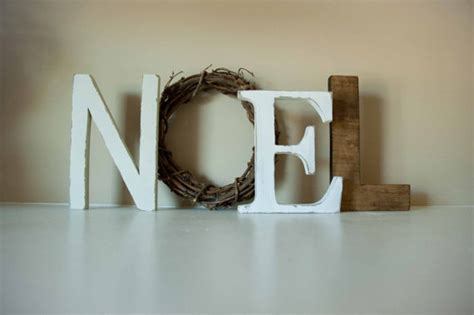 Decorative Letters For Mantle by Noel Letters Decor Mantle Decor Gift