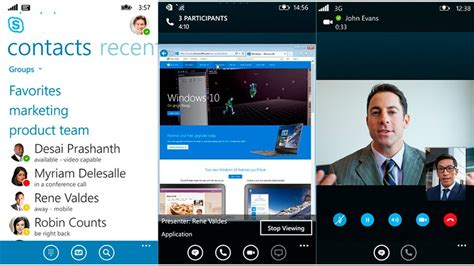 skype for mobile devices skype empresarial llega a windows phone