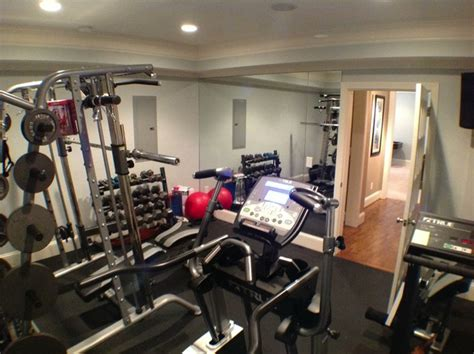 kennesaw basement traditional home gym atlanta
