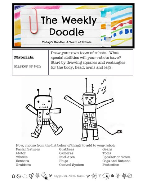 printable doodle starters introducing the weekly doodle printable drawing prompts