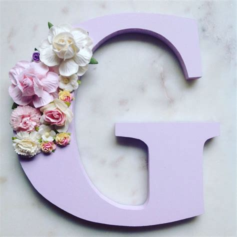 The 25 Best Flower Letters Ideas On Pinterest Diy Party Decorated Letters For Nursery