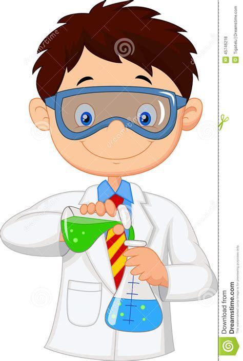 imagen de probeta qu 237 mico experimentos de quimica experimento y qu 237 mica historieta muchacho que hace el experimento qu 237 mico ilustraci 243 n vector imagen 45746218