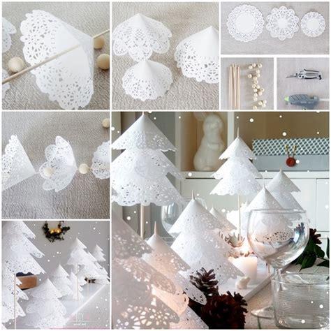 christmas diy how to diy paper doily christmas tree www fabartdiy com