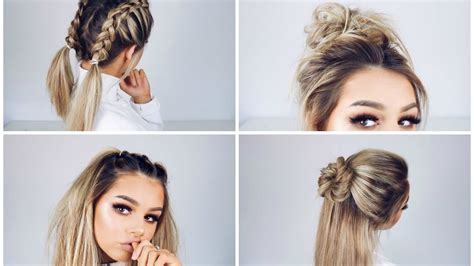 hairstyles easy and quick and cute quick and easy hairstyles youtube