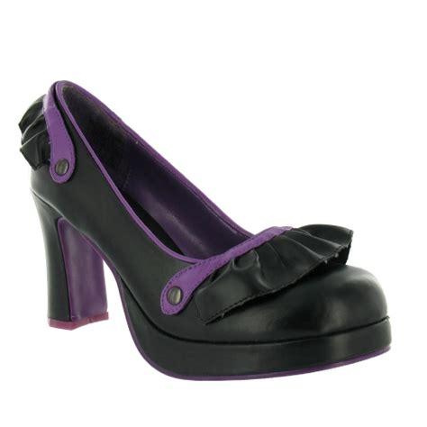 black and purple high heels tuk a7323l womens ruffled platform heels black purple