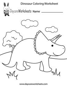 free printable dinosaur coloring worksheet for preschool