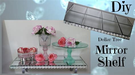 dollar home decor diy mirror glam shelf dollar tree home decor diy tube